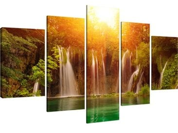 5-tlg. Leinwandbilder-Set Wasserfall