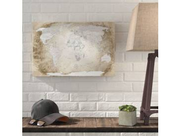 Gerahmtes Poster World Map with Cork Back