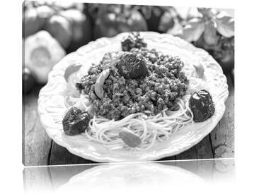 """Leinwandbild """"Spaghetti Bolognese auf dem Teller"""", Fotodruck"""