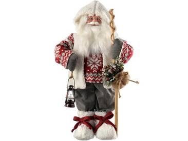 Dekorationsfigur Weihnachtsmann mit Strickpullover