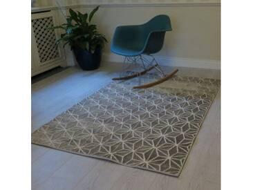 Teppich Impression in Creme/Grau
