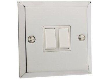 Wandmontierter Lichtschalter mit 2 Schaltern
