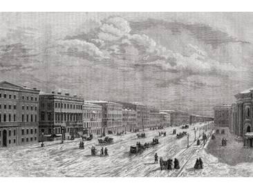 Leinwandbild St. Petersburg, Russia in 1794, from Histoire de la Revolution Francaise by Louis Blanc Engraved 1847-62, Kunstdruck von Adolphe Francois Pannemaker