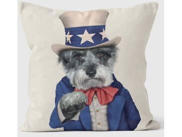 Dekokissen Pets Rock Uncle Sam