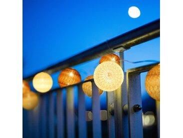 LED Lichterkette Maddison mit 10 Kugeln