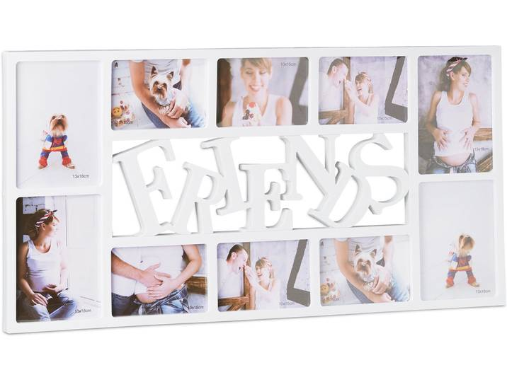 Collage-Rahmen Freunde Weiß