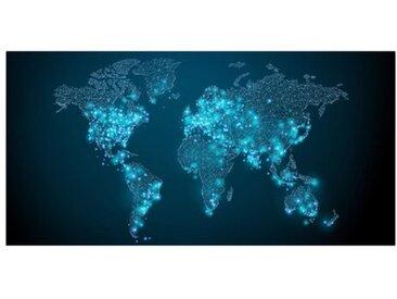 Leinwandbild Connected World Weltkarte
