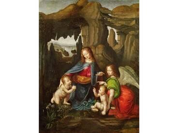 "Poster ""Madonna of The Rocks"" von Leonardo Da Vinci, Kunstdruck"