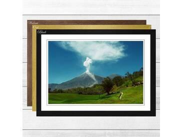 Gerahmter Fotodruck Landscape Guatemala Volcano