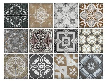 12-tlg. Selbstklebendes Mosaikfliesen-Set Ebba aus PVC