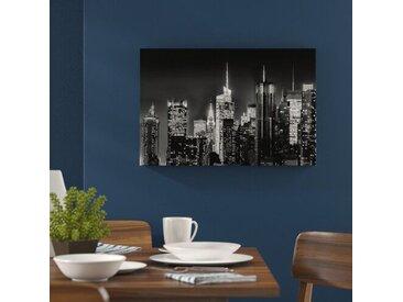 Leinwandbild New York von oben in Monochrom