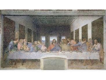 Leinwandbild The Last Supper, 1495-97, Grafikdruck von Leonardo Da Vinci