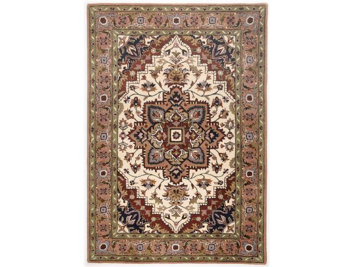 Handgefertigter Teppich Classic aus Wolle in Braun