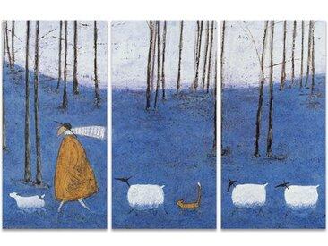 3-tlg. Leinwandbilder-Set Tiptoe Through the Bluebells von Sam Toft