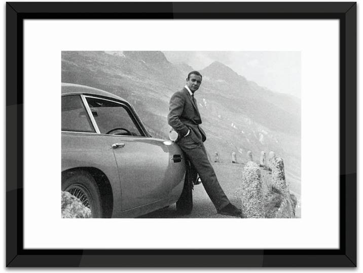 James Bond, Aston Martin Framed Photographic Pr...