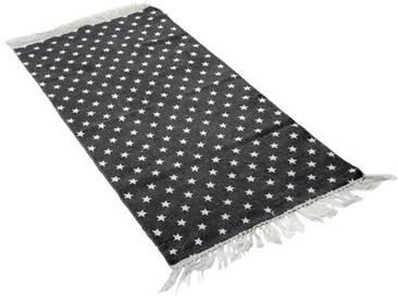 Teppich Multi-Stern in Schwarz/ Weiß