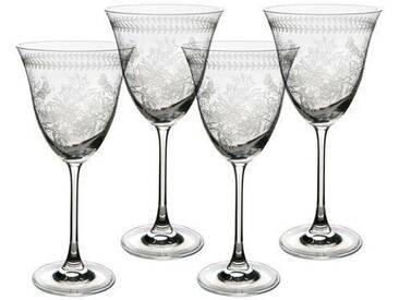 Weingläser-Set Botanic Garden aus bleifreiem Kristallglas