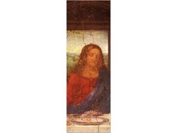"""Gerahmtes Leinwandbild ?""""Alte Meister Das Abendmahl - Jesus Detail?"""" von Leonardo da Vinci, Kunstdruck"""