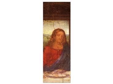 """Gerahmtes Leinwandbild """"Alte Meister Das Abendmahl - Jesus Detail"""" von Leonardo da Vinci, Kunstdruck"""