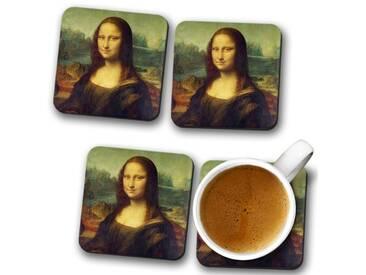 Glasuntersetzer-Set Leonardo da Vinci the Mona Lisa