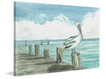 Leinwaldbild Sitting on the Dock von Glenda Roberson