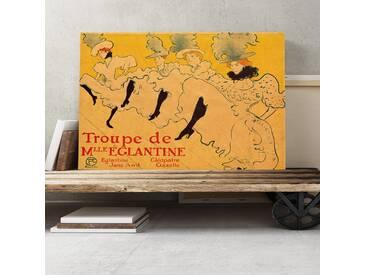 Leinwandbild Kicking It up Kunstdruck von Henri de Toulouse-Lautrec