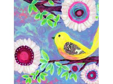 "Leinwandbild ""Bird on Branch"" von Jill Lambert, Kunstdruck"