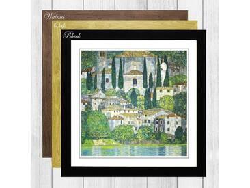"""Gerahmtes Poster """"Kirche in Cassone"""" von Gustav Klimt, Kunstdruck"""