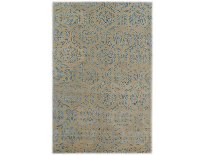 Texas Hand Tufted Wool Blue Rug Blau