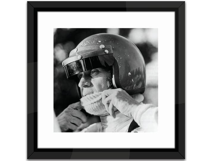 Studio Steve McQueen Racing Framed Photographic...