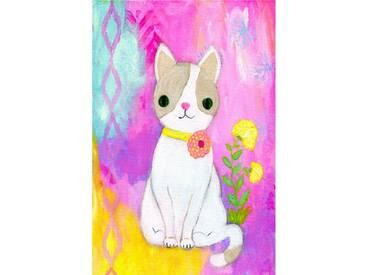 """Leinwandbild """"Kitty"""" von Jill Lambert, Kunstdruck"""