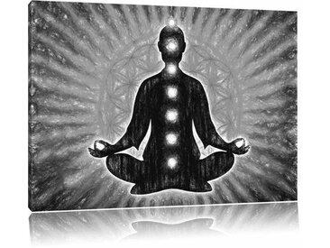 "Leinwandbild ""Meditation mit den 7 Chakren"", Grafikdruck"