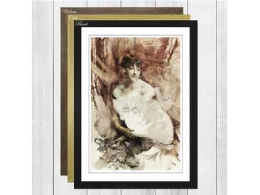 Gerahmter Kunstdruck Woman with a Fan von Giovanni Boldini
