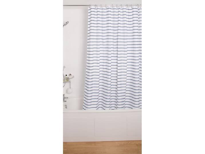Pinstripe Textile Shower Curtain Lila