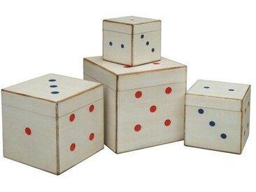 4-tlg. Aufbewahrungsbox-Set Dice
