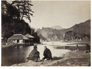 Leinwandbild Village Near Yokohama, Fotodruck von Wilhelm Burger