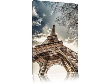 Leinwandbild ,,Eindrucksvoller Eifelturm Paris, Wandbild