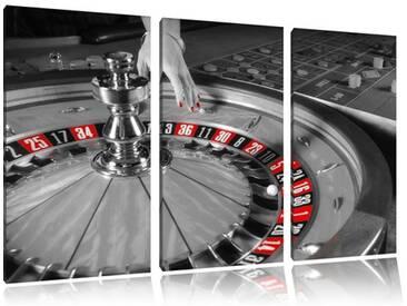 """3-tlg. Leinwandbilder-Set """"Großer Roulette Tisch"""", Fotodruck"""