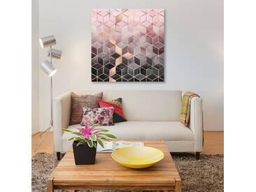 Leinwandbild Pink and Grey Cubes von Elisabeth Fredriksson