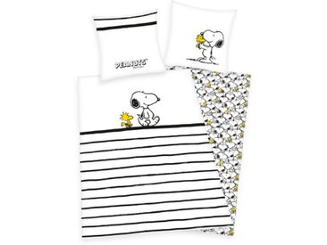 Renforcé-Kinderbettwäsche Peanuts Snoopy