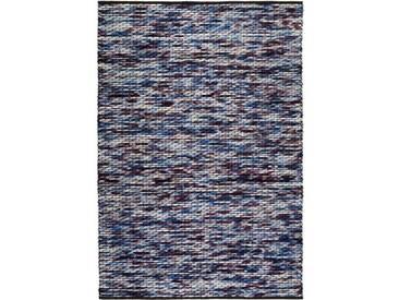 Handgefertigter Teppich Reflection in Violett