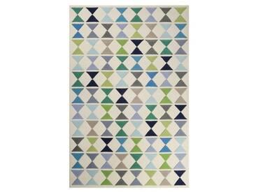 Handgefertigter Teppich Mahan aus Wolle in Beige