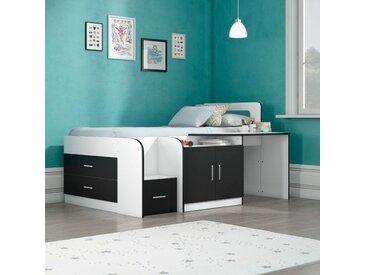 Funktionsbett Bolatice mit Schubladen und Schreibtisch