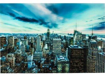 Glasbild New York Sunset