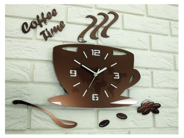 Wanduhr Coffee Time 3D