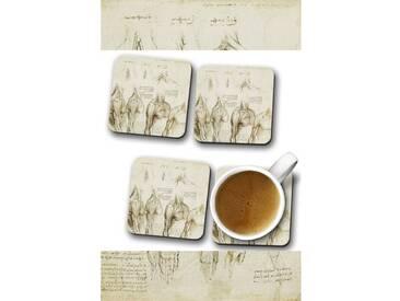 Glasuntersetzer-Set Leonardo da Vinci Anatomy 9