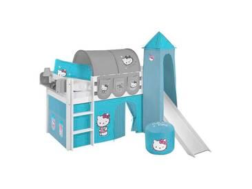 Hochbett Hello Kitty mit Textil-Set, 90cm x 190cm