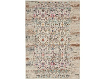 Teppich Vintage Kashan in Elfenbein