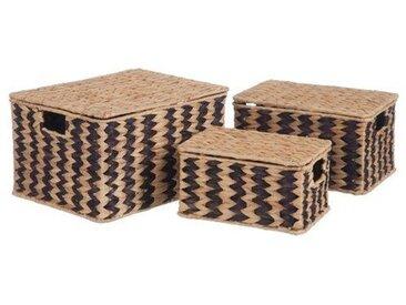 3-tlg. Korb-Set aus Korbgeflecht