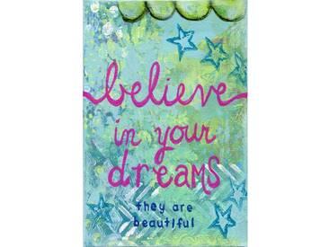 """Leinwandbild """"Believe in Dreams"""" von Jill Lambert, Kunstdruck"""